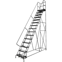 Deep Top Step Rolling Ladder VC779 | Ontario Safety Product