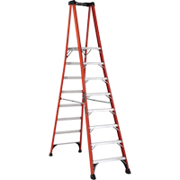 Industrial Extra Heavy-Duty Fibreglass Pro Platform Stepladders (FXP1800 Series) VD418 | Ontario Safety Product