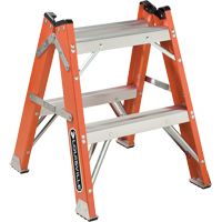 L-3433 Series - Extra Heavy-Duty Twin Front Step Stool VD426 | Ontario Safety Product