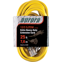 Outdoor Vinyl Extension Cords with Light Indicator - Single Tap  XC494 | Ontario Safety Product
