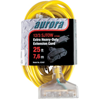 Outdoor Vinyl Extension Cords with Light Indicator - Triple Tap  XC497 | Ontario Safety Product