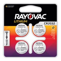 CR2032 Lithium Coin Cell Batteries XG858 | Ontario Safety Product