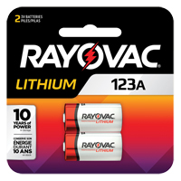 Rayovac® Lithium 123A Batteries XG866 | Ontario Safety Product